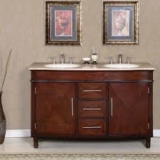bathroom double sink cabinets. Interesting Sink Silkroad 55 Inch Double Sink Bathroom Vanity Roman VeinCut Countertop  To Cabinets