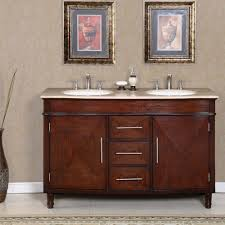 silkroad 55 inch double sink bathroom vanity roman vein cut countertop