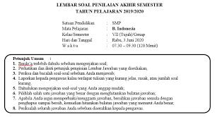 Kunci jawaban fokus bahasa jawa kelas 4 semester 2 : Soal Dan Kunci Jawaban Pat Bahasa Indonesia Smp Kelas 7 Semester Genap Kurikulum 2013 Didno76 Com