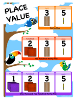 Place Value Chart For 1st Grade Free Place Value Pdf Math Worksheets Edhelper Com
