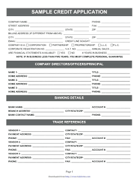 Credit Application For Rental Credit Application Form Template Free Elektroautos Co