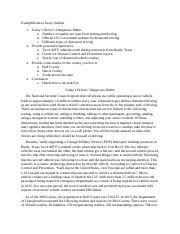 exemplification essay outline exemplification essay outline  2 pages exemplification essay outline