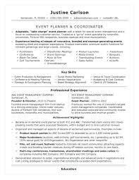 Event Coordinator Templates Event Resume Template Mediaschool Info