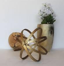Decorative Metal Balls Decorative Orbs Wood Metal Ball Rustic Home Decor Spheres Accent 90