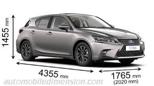 Lexus Suv Size Chart Dimensions Of Lexus Cars Showing Length Width And Height