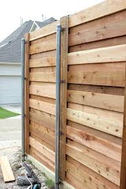 horizontal wood fence. Brilliant Fence Wooden Fence Posts Installation Horizontal Wood Attached To Chain  Link Post Tips Installing And Pickets In