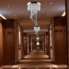 Großhandel Moderne Kristalldeckenleuchte K9 Led Kronleuchter Pendelleuchte Flur Treppe Hotels Wohnzimmer Beleuchtung Fixture Beleuchtung 110v 240v Von