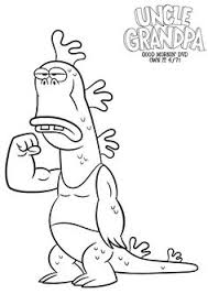 Small Picture Free Pizza Steve Coloring Page from Uncle Grandpa Brenden party