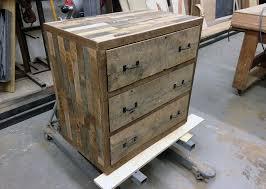 pallet wood dresser