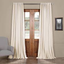 curtains for home office. Buy Signature Ivory Extra Wide Grommet Blackout Velvet Curtain And Drapes At Best Price. Find Curtains For Home Decor. Office M