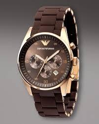 emporio armani chronograph sport watch brown mens watches emporio armani brown dial chronograph mens watch rosegold finish