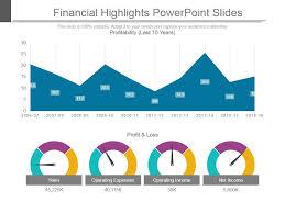 Powerpoint Financial Financial Highlights Powerpoint Slides Template