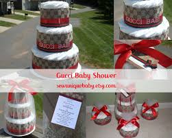 Designer Diaper Cakes Designer Inspired Gucci Baby Diaper Cake By Sewuniquebaby On