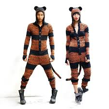 Designer Onesie Womens Tiger Suit Unisex Pajamas All Season Onesie Mens And