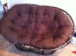 papasan furniture. traditional double papasan chair with tufted blue cushion perfect for living room furniture
