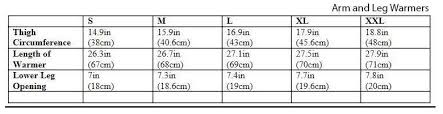 Gore Size Guide