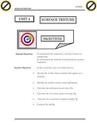 Unit4 Surface Texture