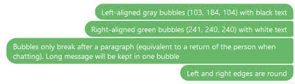 Green Text Bubble How To Make Every Line In A Bubble Like Chat Conversations