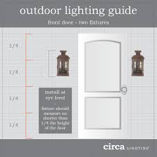 outdoor lighting guide when installing two lights on either side of the front door