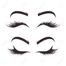 Eyelash Graphic Design Different Types Of Variation Of Eyebrows And Eyelashes Models