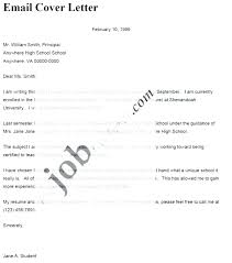 How To Write A Cover Letter Email Resume Email Body Sample Resume
