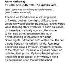 kick ass wedding poem valentine carol ann duffy carol ann duffy  anne hathaway by carol ann duffy