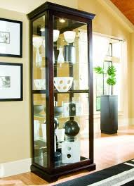 Corner Kitchen Curio Cabinet Amazoncom Pulaski Two Way Sliding Door Curio 30 By 20 By 80