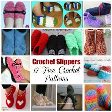 Free Crochet Slipper Patterns Best My Hobby Is Crochet Crochet Slippers 48 Free Crochet Patterns
