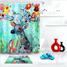 dog shower curtain cute animal pattern deer dog shower curtain cartoon design bathroom curtain for bathroom