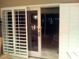 built in dog door sliding door with built in dog door shutters for sliding glass doors