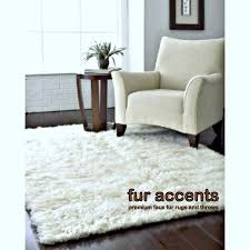 4 x5 plush white faux fur sheepskin rectangle rug