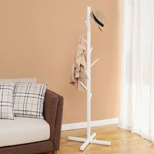 White Coat Rack Tree Design Ideas White Creatwo Tree Floor Coat Rack From AliExpress 18