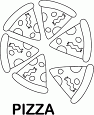 Small Picture Pizza Coloring Pages For Kids Color Page Coloring Home