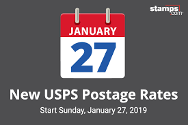 Usps Rate Chart 2019 Usps Announces Postage Rate Increase Starts January 27