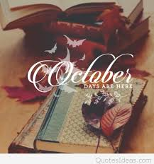 october days are here picture with quote