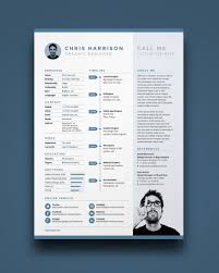 Free Resume Template In Photoshop Psd Illustrator Ai And A4 Ik