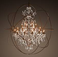 rustic cage crystal chandelier for decorative lighting in dining room or living room
