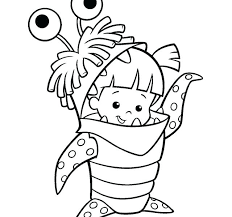 Cartoon Characters Coloring Pages Easy To Draw Also Mike Valuable