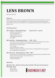 Resume Template Word 2017 Amazing Chronological Resume