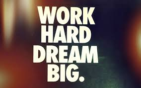 Short Motivational Quote About Life Work Hard Dream Big