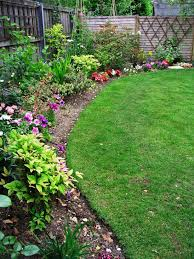 use edging to keep weeds and lawn away