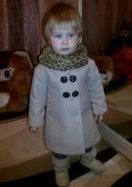 Выкройка шерстяного <b>пальто</b> для девочки | Идеи для детей ...