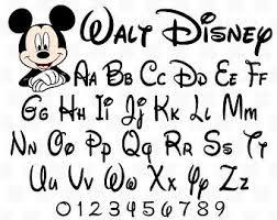 Disney Font Disney Font Svg Etsy