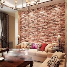QIHANG Red Brick Wall Modern Wallpaper ...
