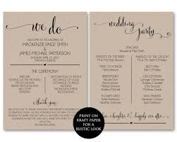 Templates For Wedding Programs Wedding Program Template Wedding Program Printable We Do Ceremony Printable Template Pdf Instant Download Diy Wbwd4