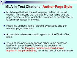 in text citation author page number mla citation examples umuc library