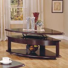 lidya corner wedge lift top cocktail table