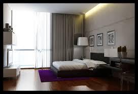 purple modern master bedroom. Wonderful Modern Master Bedroom Decor Ideas With Purple Carpet And Slim TV