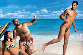 Gay at beach with strangers