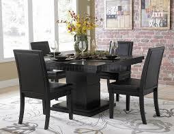Room · Black Finish Modern Dining Table ...  Pinterest